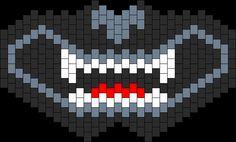 Halloween; Hell Hound Full Face Mask Perler Hama Beads Pattern. Design by Kandi_Kitty94 on Kandi Patterns