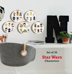 Star Wars Counted Cross Stitch Kit May The Force Be With You Kit Includes Chart with 10 Characters