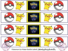 Pokemon-Go-Water-Bottle-Labels | Mandy's Party Printables