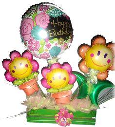 #Hermoso #Arreglo de #Globos #Cumpleaños con #MiniShape #Flores!!!