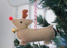 Corgi Christmas Decoration