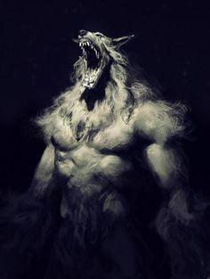 cabin in the woods werewolf wip Dark Fantasy Art, Dark Art, Fantasy Creatures, Mythical Creatures, Werewolf Art, Vampires And Werewolves, Creatures Of The Night, Monster Art, Horror Art