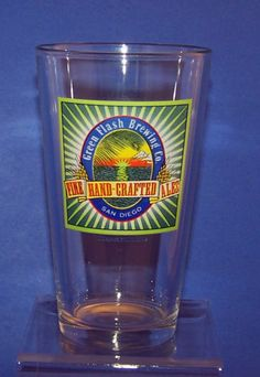 Green Flash Brewing San Diego Hand Crafted Ales Pint Beer Glass   eBay