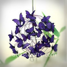 VERY COOL! Lamp with violet butterflies Purple Rain by MatchDelacroix on Etsy, €60.00