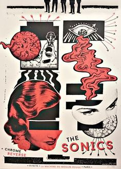 Gig posters, flyers and handbills from around the world! Graphic Design Posters, Album Art, Art Design, Illustration Design, Punk Poster, Poster Art, Design Art, Collage Art, Graphic Art