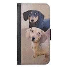 Dachshund Painting - Cute Original Dog Art Samsung Galaxy S6 Wallet Case   dachshund stuff, puppies dachshund, dorkie puppies dachshund #dachshundaddict #dachshundMarsele #DachshundsThroughtNovember Dapple Dachshund Puppy, Dachshund Funny, Dachshund Puppies For Sale, Dachshund Quotes, Dachshund Shirt, Long Haired Dachshund, Dachshund Gifts, Dachshund Love, Chihuahua Dogs