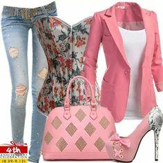 Casual en rosa