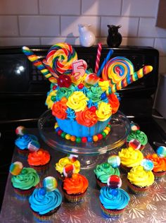 Carnival candy cake