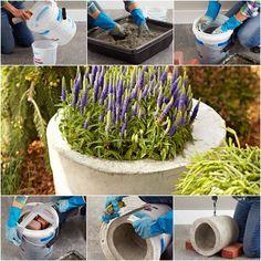 How to DIY Concrete Garden Planter | iCreativeIdeas.com Follow Us on Facebook --> https://www.facebook.com/icreativeideas