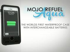 Waterproof Removable Battery Case - ibattz Mojo Refuel Aqua by ibattz LLC — Kickstarter