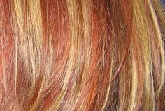 Anything You Need for DIY Blonde Hair with Red Lowlights : Dark Blonde Hair with Red Lowlights. Dark blonde hair with red lowlights. blonde with red lowlights Orange To Blonde Hair, Red Hair With Blonde Highlights, Cool Blonde Hair, Light Blonde Hair, Highlights Diy, Hair Levels, Light Red Hair, Natural Hair Styles, Short Hair Styles