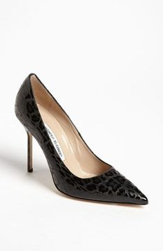 Manolo Blahnik 'BB Leopard' Pump available at #Nordstrom #manoloblahnikheelsfallwinter