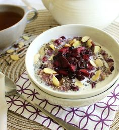 Inspired Edibles: Warming Oatmeal with Apple-Blueberry Compote