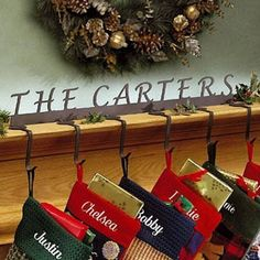 Personalized Christmas Stocking Hanger/Holder  Custom