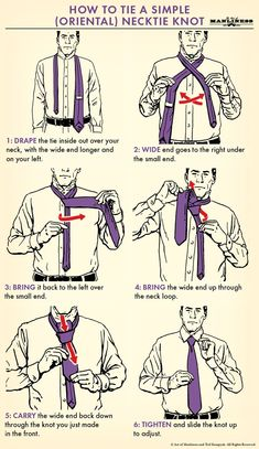 Like this illustrated guide? Then going to love our Illustrated Art of Manliness! Pick up a copy Illustrated by Ted Slampyak Cool Tie Knots, Cool Ties, Art Of Manliness, Tie Knot Styles, Tie A Necktie, Tie A Tie, Necktie Knots, Windsor Knot, Clothing Hacks