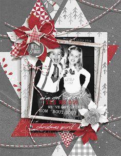 Christmas Spirit layout by Brandy Murry