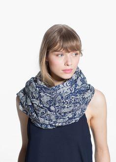 Paisley cotton scarf