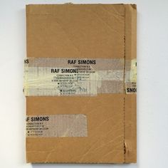 The box for Isolated Heroes by Raf Simon and David Sims (sadly not for sale, but on display!)