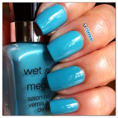 Two coats and no top coat of I Need A Refresh-Mint by Wet n Wild. #nails #nailpolish #swatches #WetNWild . Instagram: accnpl