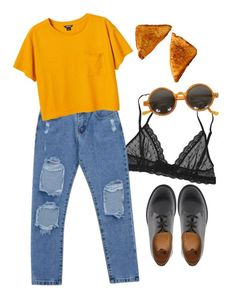 """Untitled #2"" by julietteisinthe80s ❤ liked on Polyvore featuring Eberjey, Chicnova Fashion, Monki and Dr. Martens"