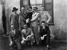 After the formation of Disney Bros. Studio, Walt Disney began hiring animators, including old friend and collaborator, Ub Iwerks (back row, second from left), who relocated from Kansas City to Los Angeles to work at Disney's studio in 1924. Credit: Courtesy of the Walt Disney Archives Photo Library ©Disney