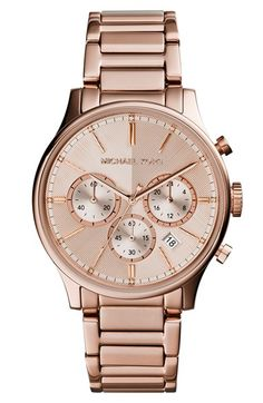 MICHAEL Michael Kors Michael Kors 'Bailey' Chronograph Bracelet Watch, 39mm (Nordstrom Exclusive) available at #Nordstrom