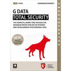 Complete solution for optimal Internet security and the protection of your data.  G Data TotalSecurity is a new complete solution for your all-round protection. It offers the best possible protection against viruses, hackers, spam and all Internet threats by using modern cutting-edge technology...