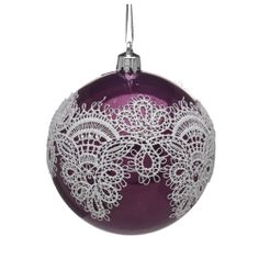 Wilko Heirloom Lace Bauble - i wonder if I could do this myself?