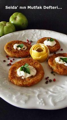 Selda' nın Mutfak Defteri...: Tarhanalı Yeşil Domates Kızartması