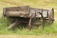 Picture of Old wooden farm wagon in the Palouse Region of Washington | PlanetWare