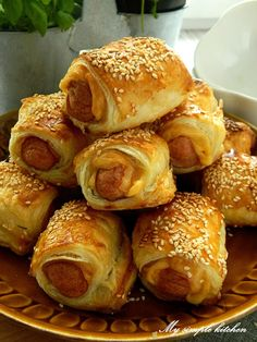 My simple kitchen: Parówki w szlafroczkach Pretzel Bites, Finger Foods, Bread, Impreza, Simple, Hot, Kitchen, Food Cakes, Deserts