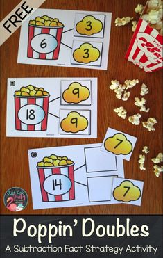 Pop by to see this free subtraction fact strategy resource for doubles, perfect for supporting your first and second-grade math instruction. Math Doubles, Doubles Facts, 1st Grade Math Games, Second Grade Math, Second Grade Centers, Grade 2 Maths, Kindergarten Math Centers, Second Grade Freebies, Subtraction Kindergarten