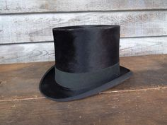 bcca68e2d40 Antique Vintage Mens TOP HAT Beaver Silk type Knox New York NR  TopHat Top  Hats