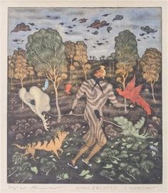 Arik Brauer Visionary Art, Ephraim Kishon, Auction, Artist, Painting, Pencil, Artists, Painting Art