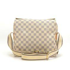 Authentic Louis Vuitton Naviglio messenger shoulder bag in white Damier  Azur Canvas. It has a5bb8ff4db4e3