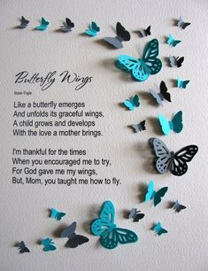 For Mothers Butterfly Wings Butterfly Word Art. YOU Choose image 3 butterfly quotes Items similar to For Mothers Butterfly Wings Butterfly Word Art. YOU Choose Colours. Personalization Added at No Extra Charge. Made to Order on Etsy Mother Poems, Mothers Day Poems, Happy Mother Day Quotes, Mother Daughter Quotes, Mother Day Wishes, Mother Quotes, Mothers Love, Mom Poems, Happy Mothers Day Images