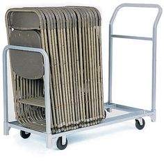 Raymond Products Folded Stacked 22 inch x 50-3/4 inch Chair Tote, Gray