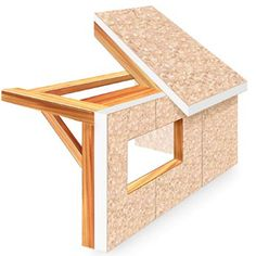 Post and Beam frame with SIP SIPs structurally insulated panels Panel Perspective Timber Frame Homes, Timber House, Sips Panels, Structural Insulated Panels, Home Board, Post And Beam, Cabin Homes, Prefab, Beams