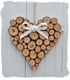 similar to large rustic heart wedding log cabin decoration on etsy - Lovely heart! -Items similar to large rustic heart wedding log cabin decoration on etsy - Lovely heart! Wood Slice Crafts, Wooden Crafts, Diy And Crafts, Driftwood Crafts, Wooden Diy, Christmas Crafts, Christmas Decorations, Beach Christmas, Prim Christmas