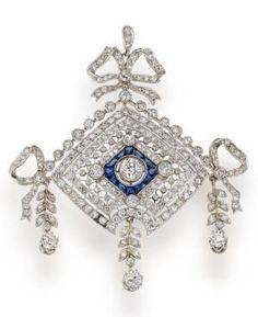 Sapphire and Diamond Pendant.