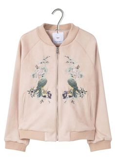 Eshop MANGO : PINK EMBROIDERED ZIPPED BOMBER JACKET with free shipping and return. Buy the full range of WOMEN CLOTHING on Place des Tendances.