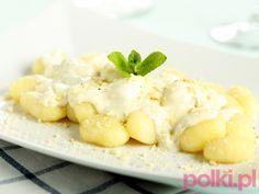 Kopytka w sosie -Przepis Creamed Potatoes, Mashed Potatoes, Gorgonzola Cheese, Ricotta, Italian Recipes, Potato Salad, Macaroni And Cheese, Low Carb, Cooking Recipes