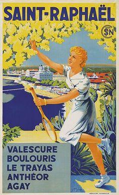 ~ Jules Munier Maurice Utrillo, Salvador Dali Art, St Raphael, Travel Journal Scrapbook, Munier, Art Commerce, Travel Wallpaper, French Riviera, Vintage Travel Posters