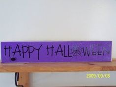 Check out our FREE monthly craft project! West Jordan Utah, Happy Halloween, Halloween Ideas, Wall Hangings, Craft Projects, Crafts, Wood, Check, Holiday