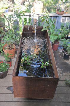 The Gatesman Water Fountain - Water Features Diy Water Feature, Backyard Water Feature, Ponds Backyard, Backyard Landscaping, Garden Ponds, Outdoor Fish Ponds, Backyard Waterfalls, Koi Ponds, Garden Water