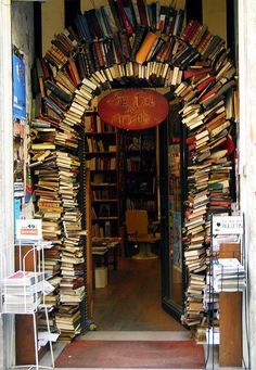 Book Store Entrance, Lyon, France
