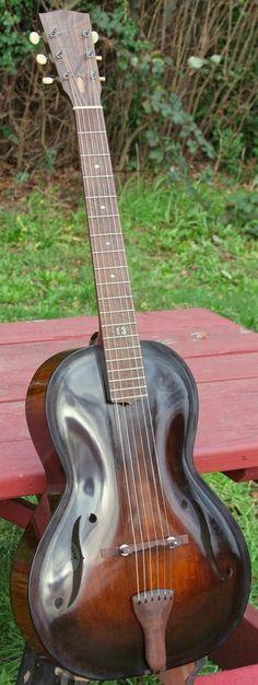 Devlin Champlin Archtop Parlour Guitar --- https://www.pinterest.com/lardyfatboy/