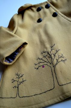 Elegance & Elephants:   - Apple of My Eye -beautiful embroidery on a kids coat