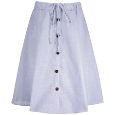 Plus Size Drawstring Pinstripe Flare Skirt ($22) ❤ liked on Polyvore featuring skirts, plus size skater skirt, drawstring skirt, circle skirt, plus size circle skirt and flared skirt