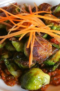 NYT Cooking: Brussels Sprouts with Kimchi Fall Recipes, Asian Recipes, Dinner Recipes, Ethnic Recipes, Vegetable Sides, Vegetable Recipes, Healthy Side Dishes, Cooking Recipes, Cooking Ideas